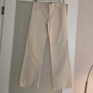 Ann Taylor off white cotton blend pants.